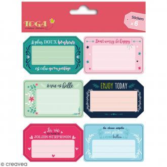 Stickers - Messages Positifs - 6 pcs