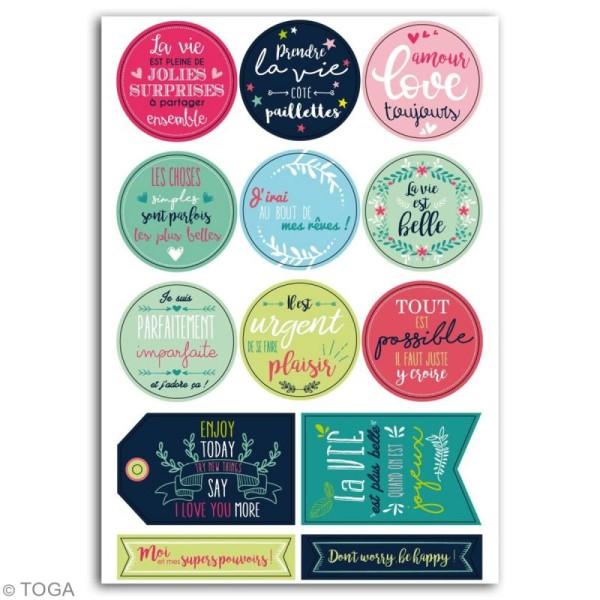 Stickers - Messages Positifs - 13 pcs - Photo n°2