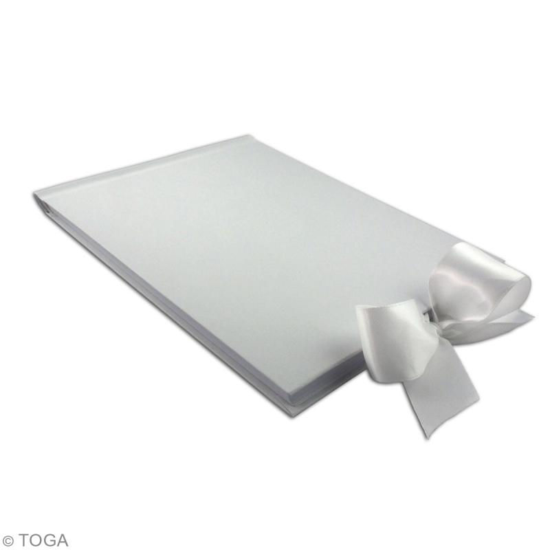 Livre d'or rectangle à décorer - Blanc - A4 - Photo n°2