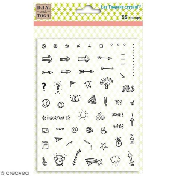 Tampons Crystal' - Icônes Bullet Journal - 55 pcs - Photo n°1