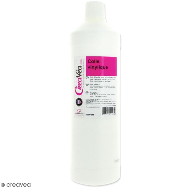 Colle vinylique blanche - 1L - Photo n°1
