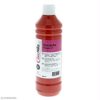 Gouache prête à l'emploi - Rouge vif - 500 ml