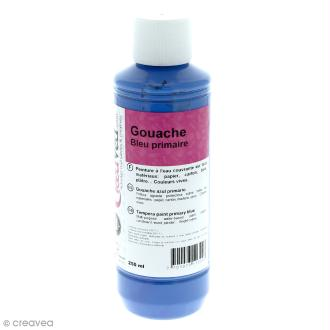 Gouache prête à l'emploi - Bleu primaire - 250 ml
