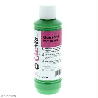 Gouache prête à l'emploi - Vert moyen - 250 ml