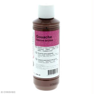 Gouache prête à l'emploi - Marron Sienne brûlée - 250 ml