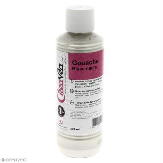 Gouache nacrée - Blanc - 250 ml