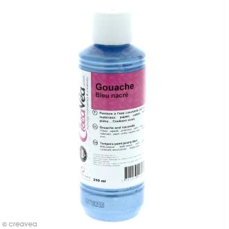 Gouache nacrée - Bleu - 250 ml