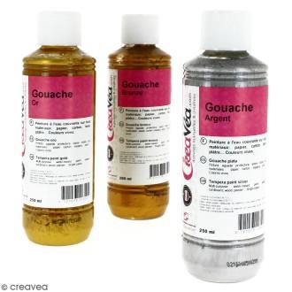 Gouache métallisée - 250 ml
