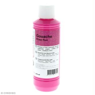 Gouache fluo - Rose - 250 ml