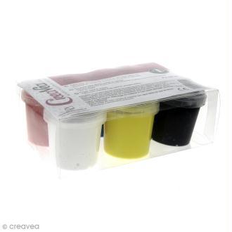 Coffret Gouache aux doigts pour enfants - Couleurs vives - 6 x 125 ml