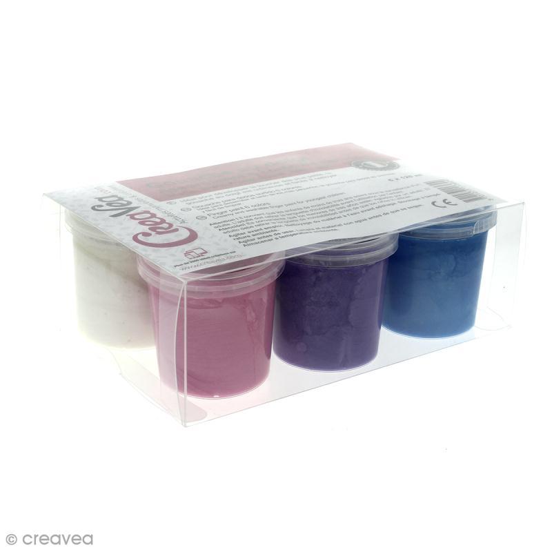 coffret gouache aux doigts pour enfants couleurs nacr es 6 x 125 ml peinture au doigt b b. Black Bedroom Furniture Sets. Home Design Ideas