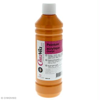 Peinture acrylique brillante - Orange - 500 ml