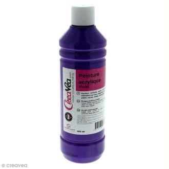 Peinture acrylique brillante - Violet - 500 ml
