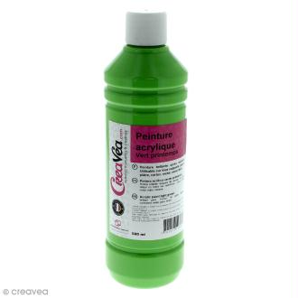 Peinture acrylique brillante - Vert printemps - 500 ml