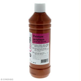 Peinture acrylique brillante - Terre de sienne - 500 ml
