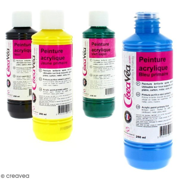Peinture acrylique brillante - 250 ml - Photo n°1