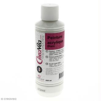 Peinture acrylique brillante - Blanc - 250 ml