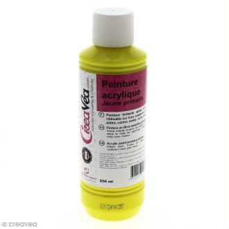 Peinture acrylique brillante - Jaune primaire - 250 ml