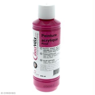 Peinture acrylique brillante - Rose - 250 ml