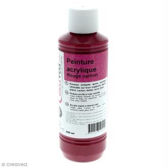 Peinture acrylique brillante - Rouge carmin - 250 ml