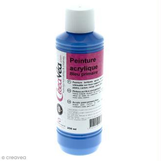 Peinture acrylique brillante - Bleu primaire - 250 ml