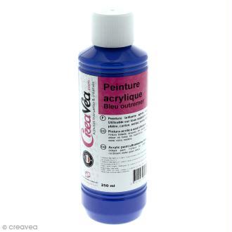 Peinture acrylique brillante - Bleu outremer - 250 ml