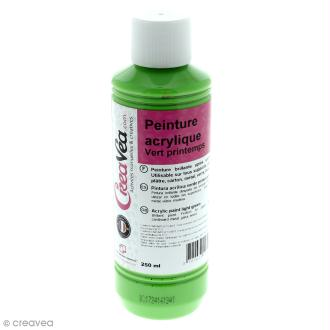 Peinture acrylique brillante - Vert printemps - 250 ml