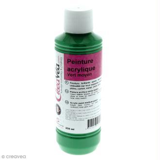 Peinture acrylique brillante - Vert moyen - 250 ml