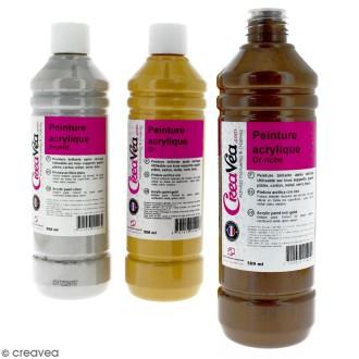 Peinture acrylique métallique - 500 ml