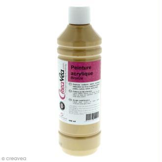 Peinture acrylique métallique - Or riche - 500 ml