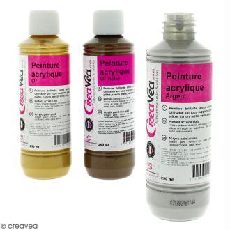 Peinture acrylique métallique - 250 ml