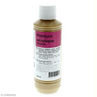 Peinture acrylique métallique - Or riche - 250 ml