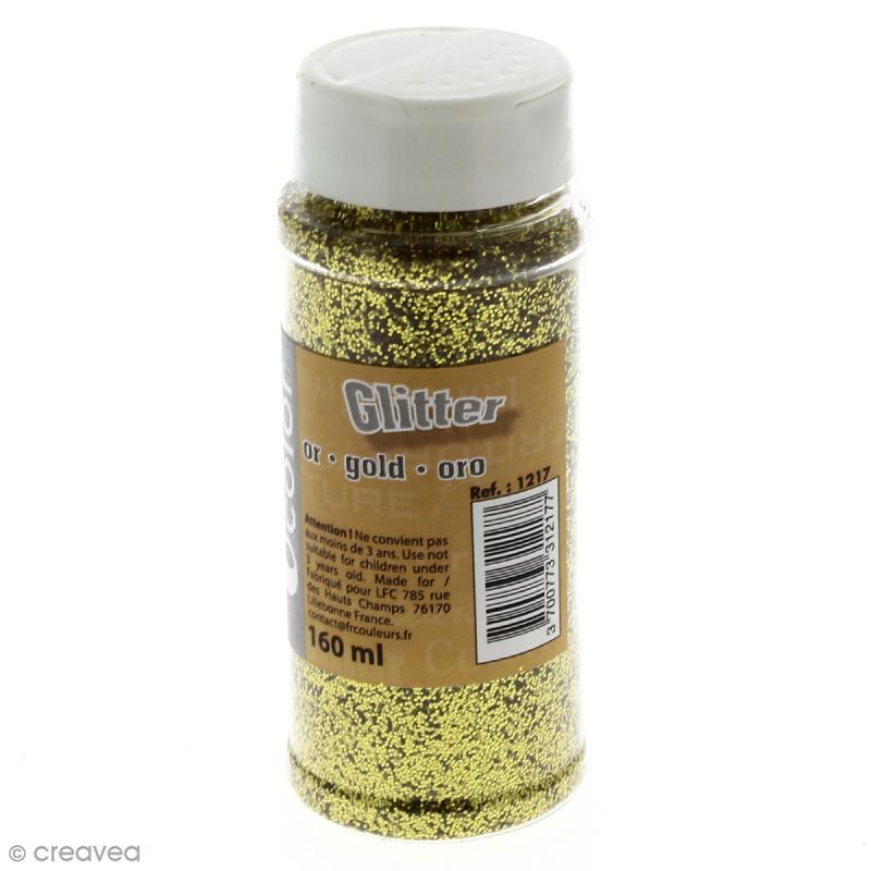 Paillettes Glitter Doré - Salière de 160 ml - Photo n°1