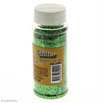 Paillettes Glitter Vert - Salière de 160 ml