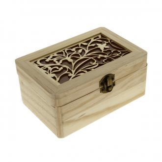 Boîte Printemps en bois à décorer - 17 x 11,5 x 7,5 cm