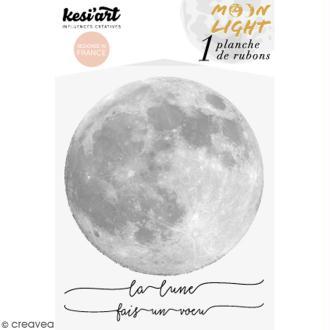 Rub-ons Transferts La lune - 1 planche de décalcomanies 15 x 10 cm