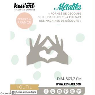 Die Métaliks Coeur avec doigts pour machines de découpe - 1 pce