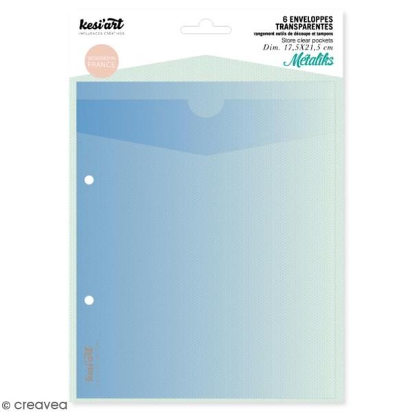 Enveloppes de rangement pour outils de découpe et tampons - 6 pcs - Photo n°1