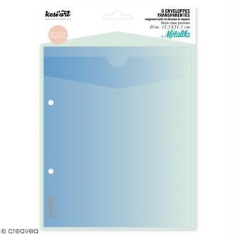 Enveloppes de rangement pour outils de découpe et tampons - 6 pcs