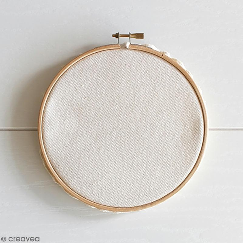 Kit broderie - Tambour à broder Hula hoop Medium 15,5 cm avec toile - Photo n°3