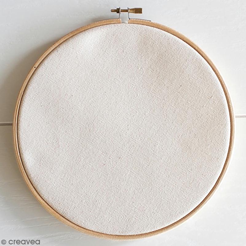Kit broderie - Tambour à broder Hula hoop Maxi 21,5 cm avec toile - Photo n°3