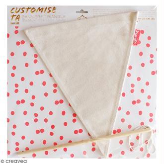 Kit Fanion à décorer - Bannière triangle 30 x 36 cm