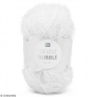 Creative Bubble - Fil à crocheter pour éponge - Blanc - 50 g
