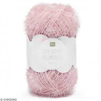 Creative Bubble - Fil à crocheter pour éponge - Rose - 50 g