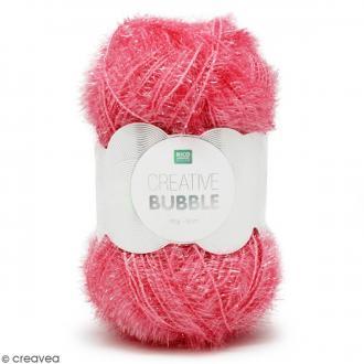 Creative Bubble - Fil à crocheter pour éponge - Fuchsia - 50 g
