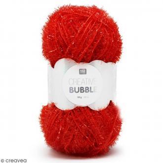 Creative Bubble - Fil à crocheter pour éponge - Rouge - 50 g