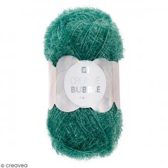 Creative Bubble - Fil à crocheter pour éponge - Vert - 50 g
