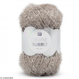 Creative Bubble - Fil à crocheter pour éponge - Argenté - 50 g