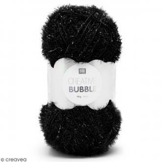 Creative Bubble - Fil à crocheter pour éponge - Noir - 50 g