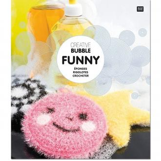 Livre Creative Bubble Eponges à crocheter - Thème Funny - 21 x 24 cm